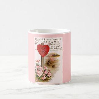 Vers-Herz-BlumenTasse des Valentines romantisches Kaffeetasse