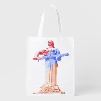 Versah wiederverwendbares Taschendoppeltes Wiederverwendbare Einkaufstasche