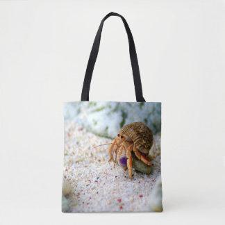 Versanden Sie Krabbe, Curaçao, karibische Inseln, Tasche