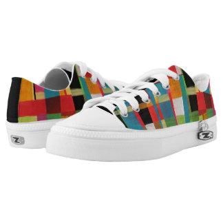 Verschachtelte Entwurf kundenspezifische Zipz Niedrig-geschnittene Sneaker