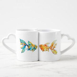 Verschachtelungs-Kaffee-Tassen-Set mit Liebestassen
