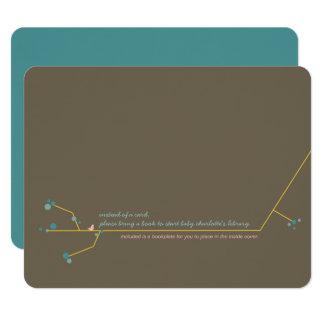 Verschachtelungs-Vogel + Buchzeichen-Einsatz-Karte 10,8 X 14 Cm Einladungskarte