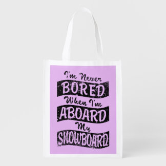 VERSCHALEN Sie nie AN BORD meines SNOWBOARD Wiederverwendbare Einkaufstasche