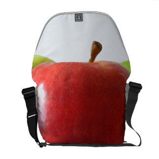 Verschiedene Äpfel Kurier Taschen