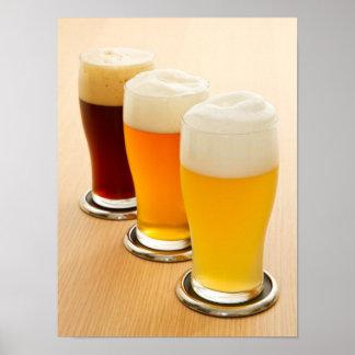 Verschiedene Arten des Bieres Poster