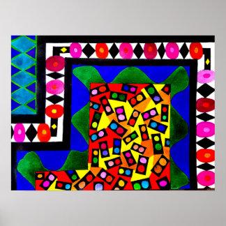 Verschiedene Formen und Größen - abstraktes Poster