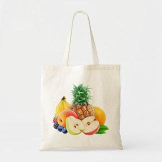 Verschiedene Früchte Budget Stoffbeutel