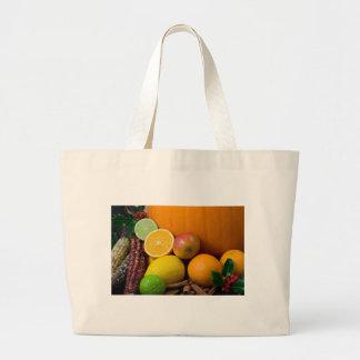 Verschiedene Früchte Leinentaschen