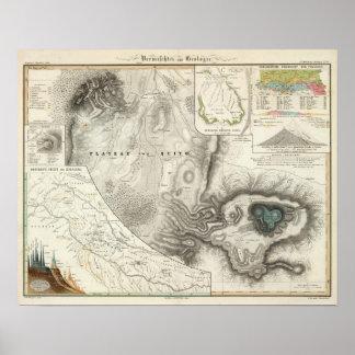 Verschiedene geologische Karten Poster