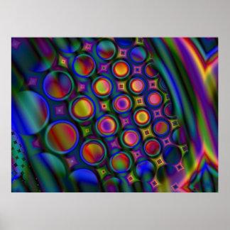 Verschiedener Blasen-Kammer-Druck Poster