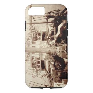 """Verschiffen-Vieh auf """"W.G. Hall"""", Hawaii, 1890s iPhone 8/7 Hülle"""