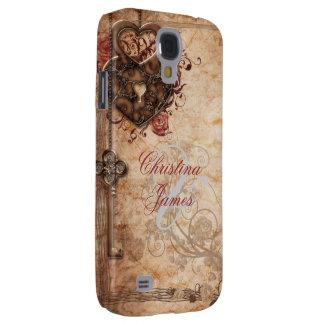 Verschluss und Schlüssel-Hochzeit Galaxy S4 Hülle