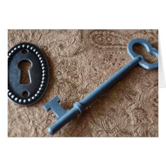 Verschluss und Schlüssel Karte