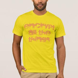 verschlüsseln Sie den ganzen Sache-T - Shirt