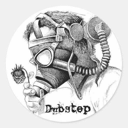 Verschmutzung, DubStep Runder Sticker
