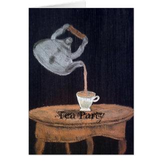 Verschobenes Teekanne-Tee-Party Karten