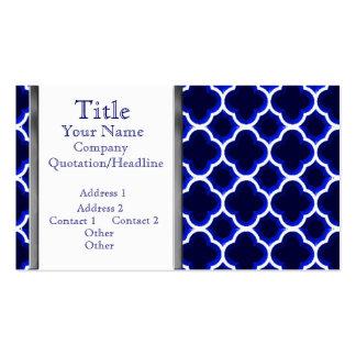 Verschönertes marokkanisches Gitter (dunkelblau) Visitenkarten Vorlage