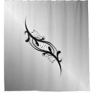 Verschönertes Silber Duschvorhang
