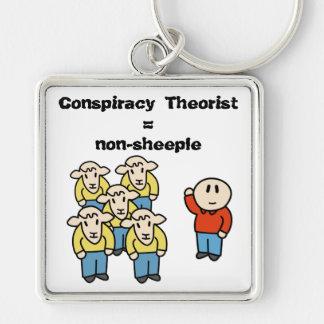 Verschwörung Theoretiker = non-sheeple Schlüsselanhänger