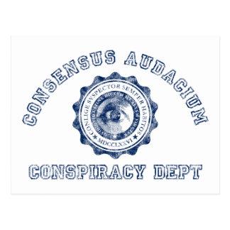 Verschwörungs-Wappen im Blau Postkarte