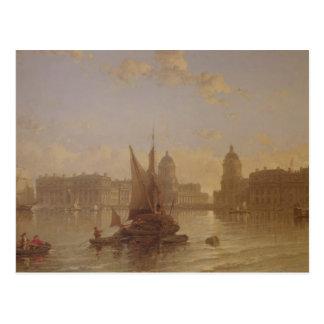 Versenden auf der Themse in Greenwich Postkarte