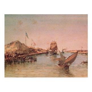 Versenden auf Suezkanal Postkarte