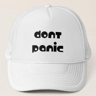 Versetzen nicht Kappe in Panik