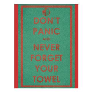 Versetzen nicht lustiger Entwurf in Panik Postkarte