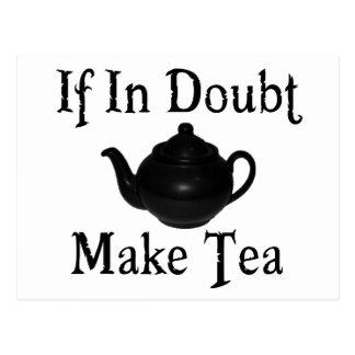 Versetzen Sie nicht in Panik - machen Sie Tee! Postkarte