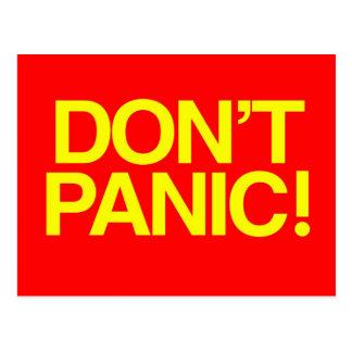 Versetzen Sie nicht in Panik Postkarte