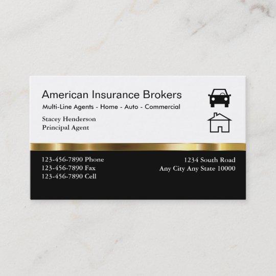 Versicherungsmakler Visitenkarten Visitenkarte Zazzle De