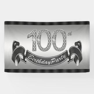 Versilbern Sie 100. Geburtstags-Party Banner