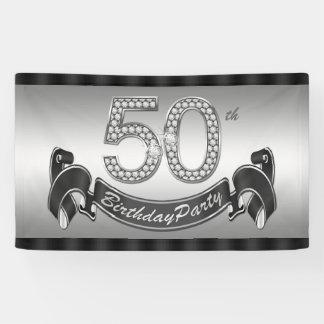 Versilbern Sie 50. Geburtstags-Party Banner