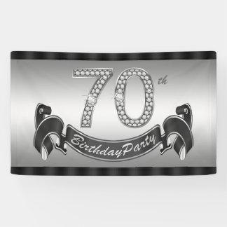 Versilbern Sie 70. Geburtstags-Party Banner