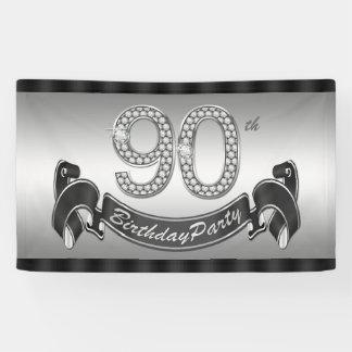Versilbern Sie 90. Geburtstags-Party Banner