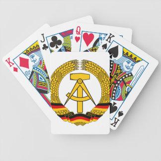 Versinnbildlichen Sie der DDR - nationales Emblem Bicycle Spielkarten