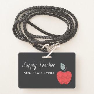 Versorgungs-Lehrer-Apple-Geschäft personalisiert Ausweis