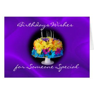 Verspätete Gänseblümchen-Geburtstags-Kuchen-Karte Grußkarte