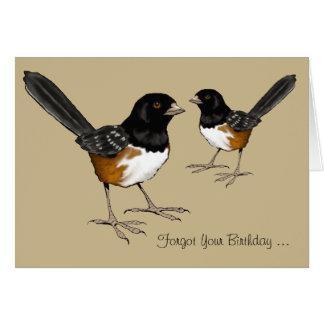 Verspäteter Geburtstag, Vogel-Gehirn, Zeichnen der Karte