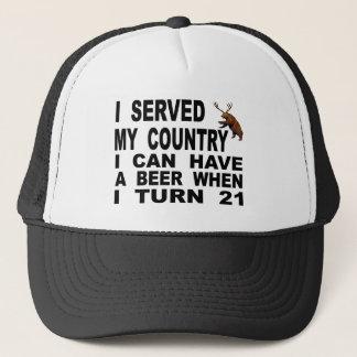 Verspotten des Mindestalters für Alkoholkonsum 21 Truckerkappe