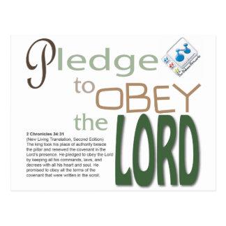 versprechen Sie, um den LORD zu befolgen Postkarte