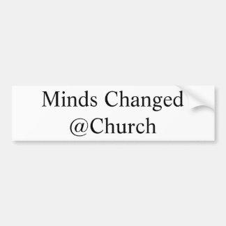 Verstand änderte @Church Aufkleber Autoaufkleber