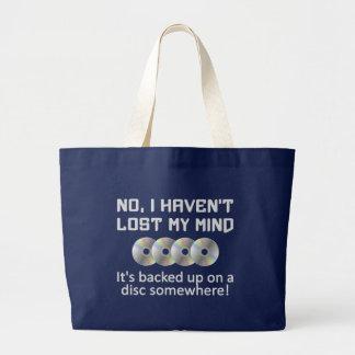 Verstand auf einer Disctasche - wählen Sie Art u. Jumbo Stoffbeutel