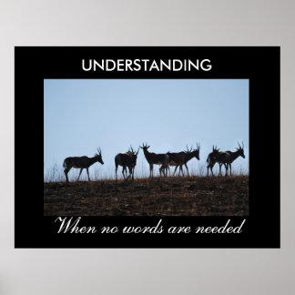 Verständnis Poster