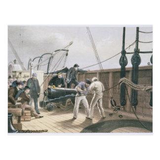Verstärken des Kabels nach dem ersten Unfall auf Postkarte
