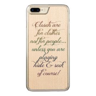 Verstecken-Regenbogen-Zitat iPhone 6 Plus Carved iPhone 8 Plus/7 Plus Hülle