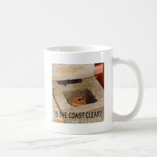 Versteckendes Eichhörnchen Kaffeetasse