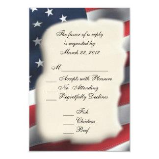 VERSTECKTE amerikanische Flagge 8,9 X 12,7 Cm Einladungskarte