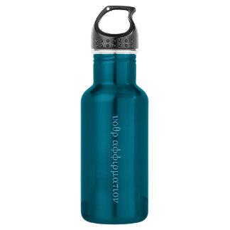 """Versteckte Bestätigungs-""""Geheimcode"""" Flasche--blau Edelstahlflasche"""