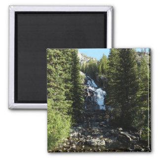 Versteckte Fälle in großartigen Teton Nationalpark Quadratischer Magnet